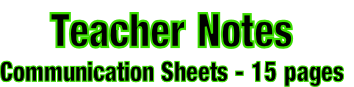 Teacher Notes Communication Sheets - 15 pages