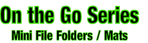 On the Go Series Mini File Folders / Mats
