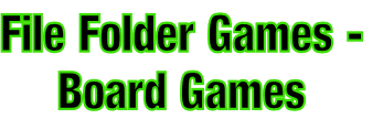 File Folder Games - Board Games